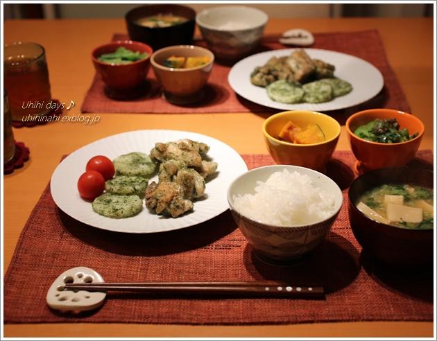 鶏と長芋の青海苔焼き_f0179404_21143777.jpg