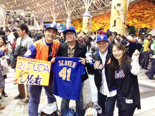 #Mets @Mets fans in #Japanallstar in Tokyo! みんなありがとう!(=´∀`)人(´∀`=) @MLB @MLBFanCave _b0032617_1642366.jpg