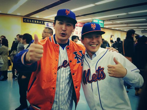 #Mets @Mets fans in #Japanallstar in Tokyo! みんなありがとう!(=´∀`)人(´∀`=) @MLB @MLBFanCave _b0032617_19411420.jpg