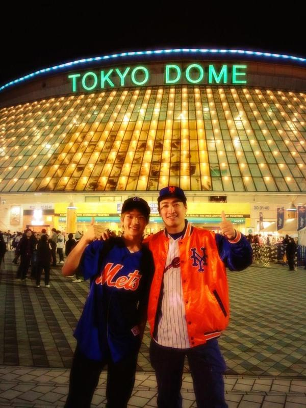 #Mets @Mets fans in #Japanallstar in Tokyo! みんなありがとう!(=´∀`)人(´∀`=) @MLB @MLBFanCave _b0032617_19413240.jpg