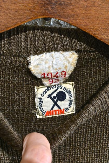 French army 40\'s crew neck knit_f0226051_12181141.jpg
