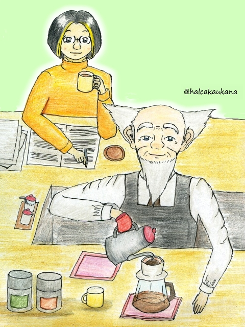 スコアさんの喫茶店 「クインテット」でコーヒーシリーズ1_f0079085_22284060.jpg