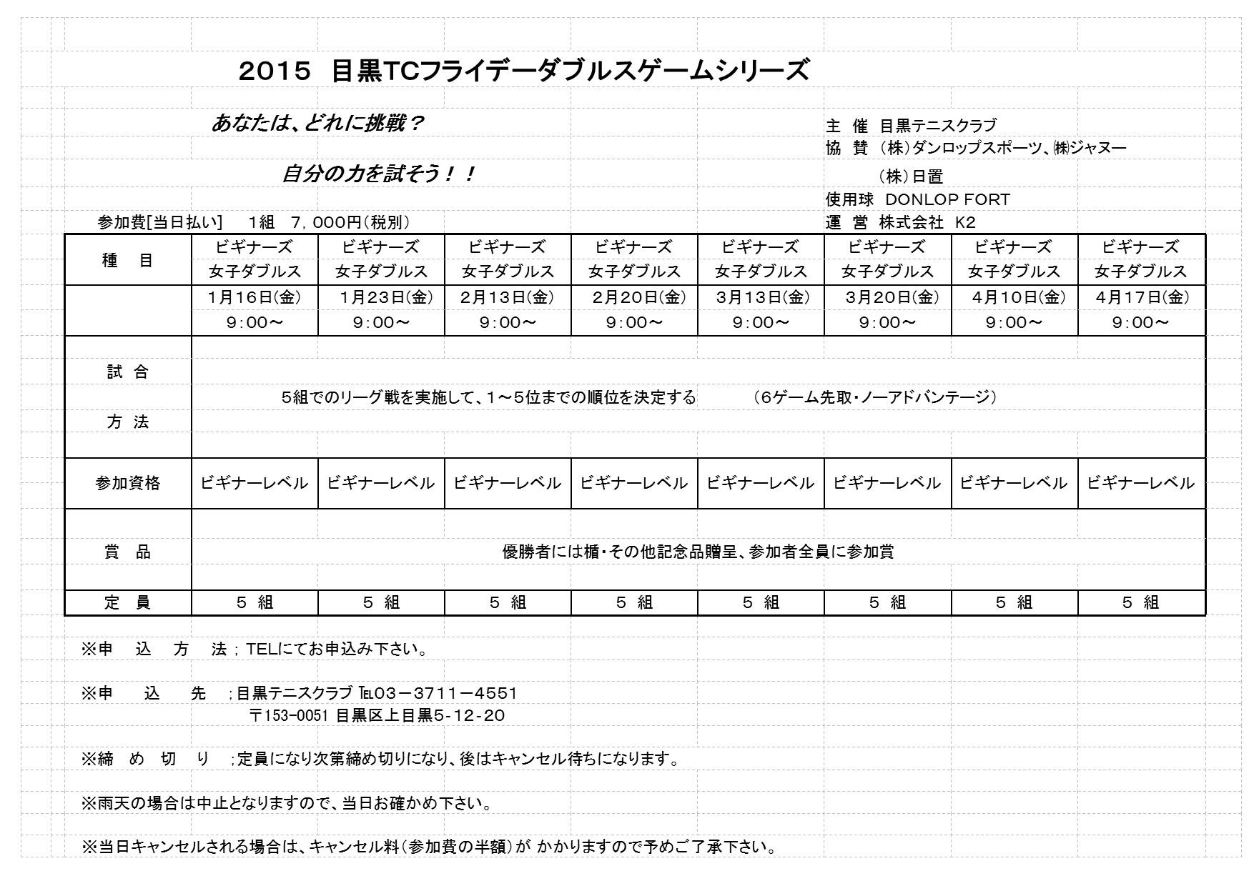 2015年 1月~4月フライデーダブルストーナメント_b0158200_16523270.jpg