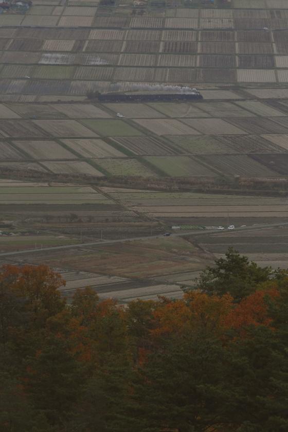 夕暮れ時、紅葉の山の麓を汽車が駆ける - 2014年紅葉・只見 -  _b0190710_23444245.jpg