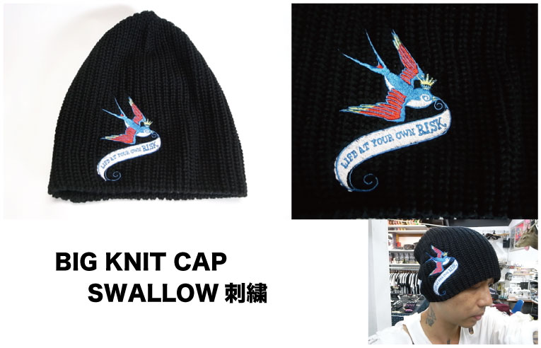 定番【BIG KNIT CAP (SWALLOW刺繍)】入荷!_a0097901_20491669.jpg