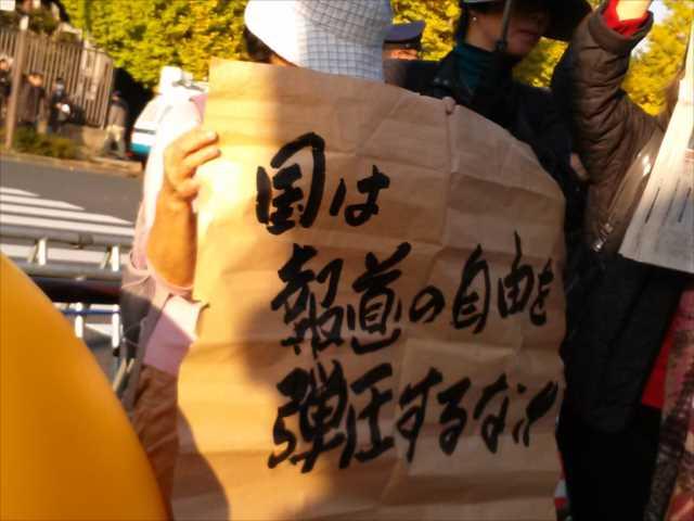 辺野古埋め立てに抗議 首相官邸前に300人_c0024539_1921885.jpg