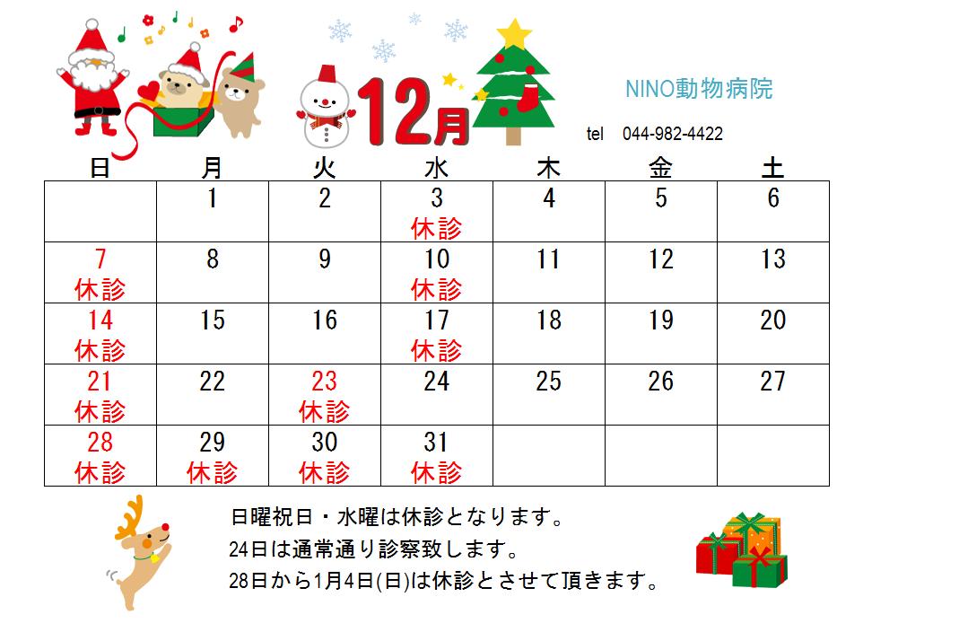 12月の休診日のお知らせ☆★☆_e0288670_15232385.png