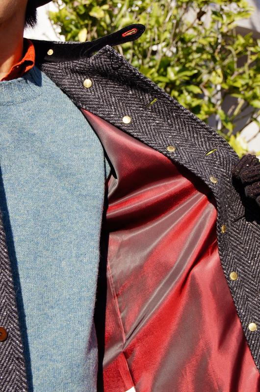 ANACHRONORM - Tweed Wool Soutien Collar Coat!!_f0020773_20335296.jpg