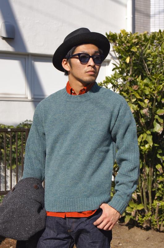 ANACHRONORM - Tweed Wool Soutien Collar Coat!!_f0020773_20352483.jpg