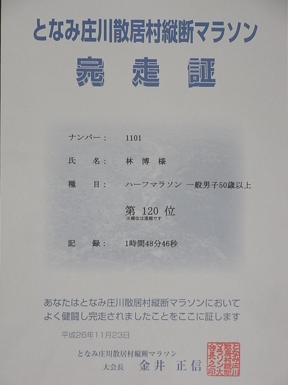 となみ庄川散居村縦断マラソン2014初参加_c0194417_17274751.jpg
