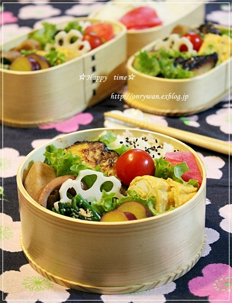 サワラの西京焼き弁当とベーグル♪_f0348032_18241354.jpg