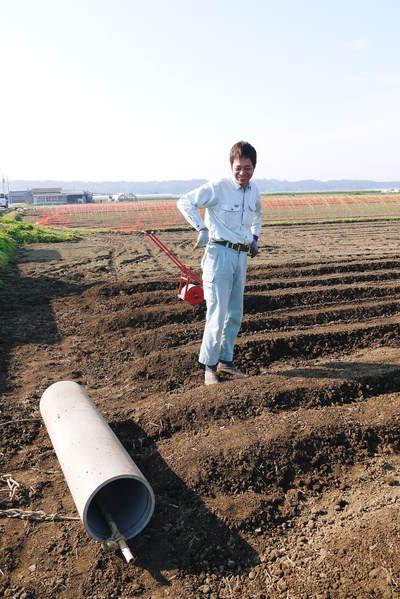 有機栽培の水田ごぼう ごぼうの種まき その2_a0254656_17335329.jpg