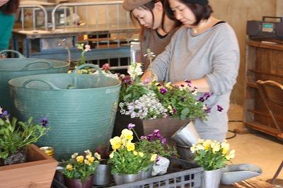 庭人さんの寄せ植えセミナー開催しました!_d0237564_17394547.jpg