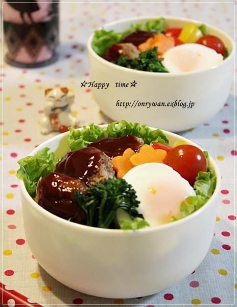 ロコモコ丼弁当♪_f0348032_17464373.jpg