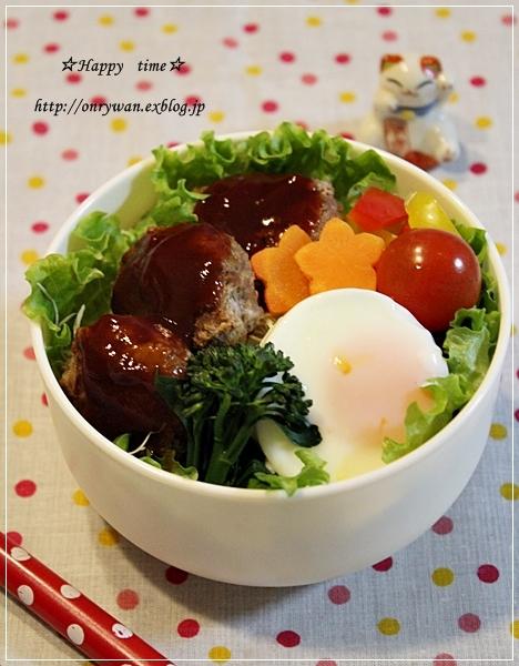 ロコモコ丼弁当♪_f0348032_17465338.jpg