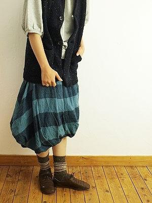 11/25 ichi イチ ウールガーゼボーダースイストバルーンスカート入荷_f0325437_14282900.jpg