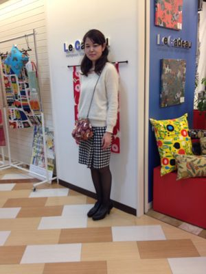 ミニパネル☆がま口ショルダーバッグ☆スケジュール帳☆_e0112378_10414697.jpg