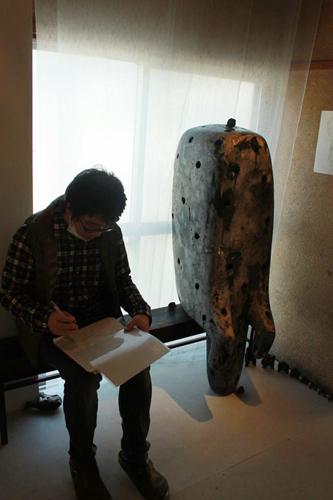 彫刻家 浅野暢晴個展 『阿吽の呼吸』終了致しました/ぎゃらりーマドベ_a0251920_12353445.jpg