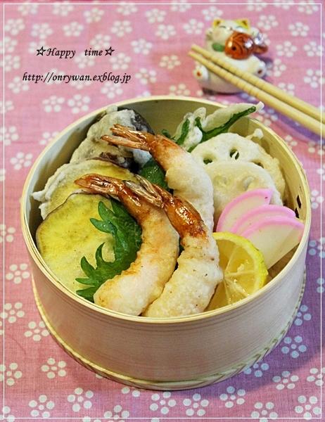 天丼弁当とビスキュイ・ド・サヴォア♪_f0348032_19240037.jpg
