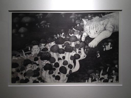 『土田朋子版画展』―ファンタジーな世界―が今日から始まります_d0178448_2433390.jpg