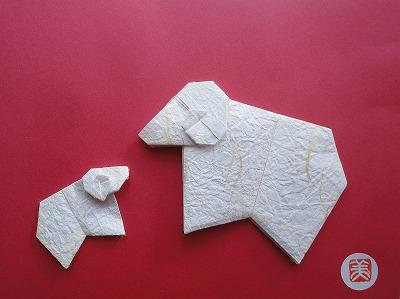 折り紙の 折り紙 羊 簡単 : origami77.exblog.jp