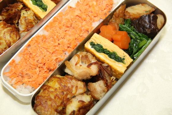 鶏肉のカリカリポテト包み和風弁当&牡蠣のから揚げあんかけ和膳_c0326245_11162183.jpg