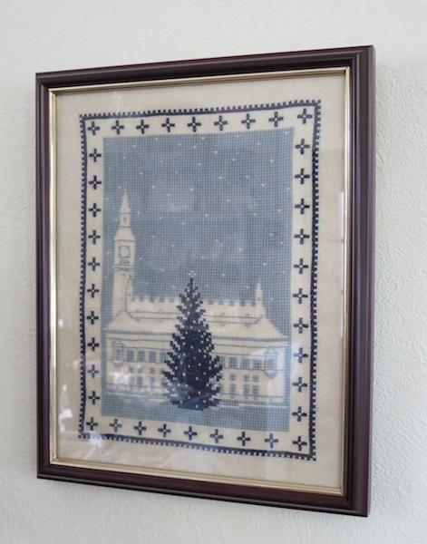 クリスマスの刺繍フレーム_f0182167_14484777.jpg