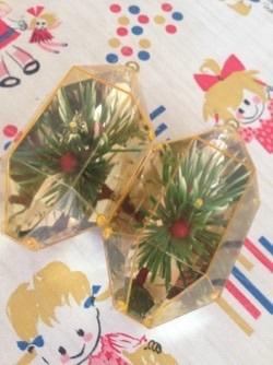 キラキラvintageクリスマスオーナメント@フリマ戦利品_e0183383_09480644.jpg