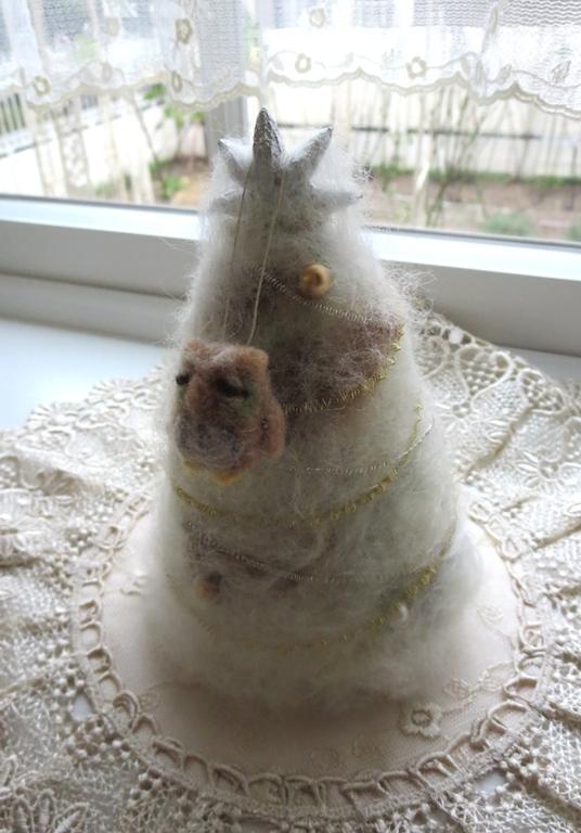 羊毛フェルトのツリー&フクロウ_f0182167_14154127.jpg