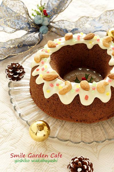 クリスマス・リース・ケーキ_b0308096_2335429.jpg
