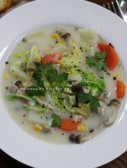 ロコモコ丼 ☆ 白菜たっぷりクリームシチュー♪_c0139375_1255918.jpg