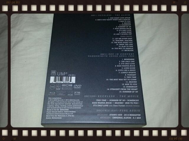 BRYAN ADAMS / RECKLESS 30TH ANNIVERSARY EDITION_b0042308_010349.jpg