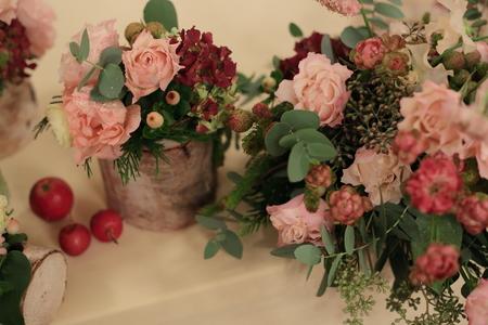 秋の装花 シェ松尾青山サロン様へ ご新婦様手作りのウエルカムドールと、ご新郎様_a0042928_22282183.jpg