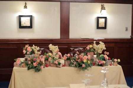 秋の装花 シェ松尾青山サロン様へ ご新婦様手作りのウエルカムドールと、ご新郎様_a0042928_22283821.jpg