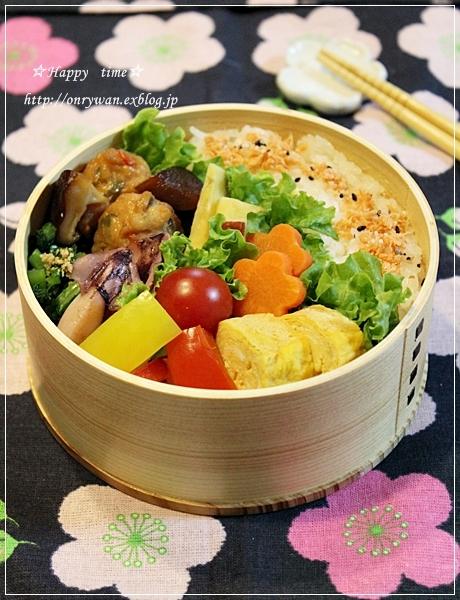 つくねと椎茸の甘辛煮弁当♪_f0348032_19100598.jpg