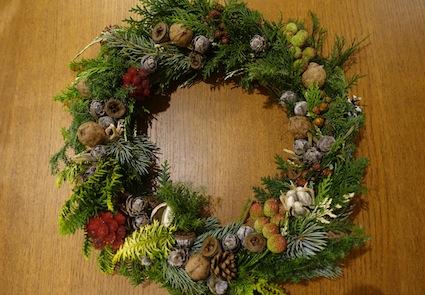 クリスマスリース_f0230689_11492515.jpg
