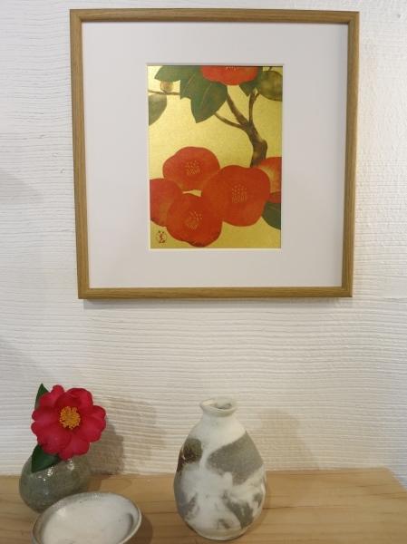 美登さんの椿とコスモス_a0197730_21583091.jpg