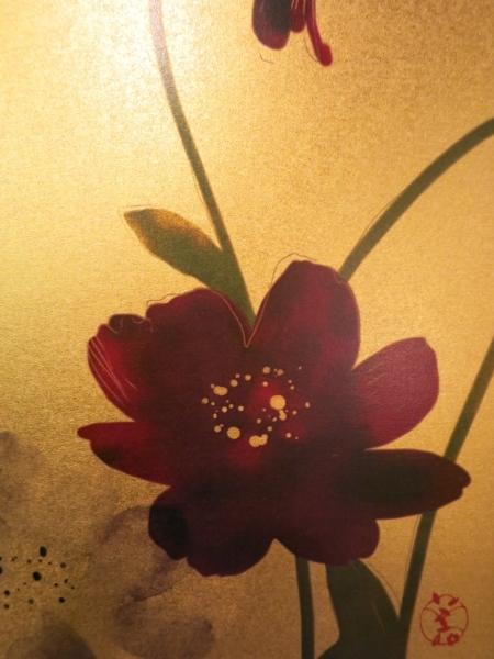 美登さんの椿とコスモス_a0197730_21595033.jpg