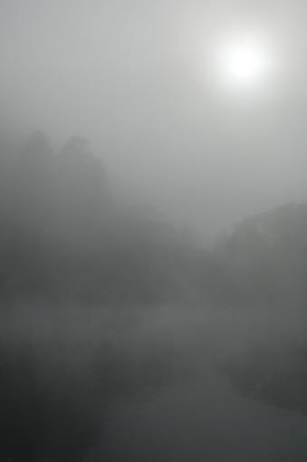 朝霧 水彩画_f0176370_17103514.jpg