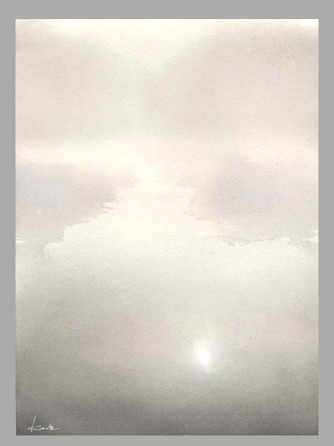 朝霧 水彩画_f0176370_1723563.jpg