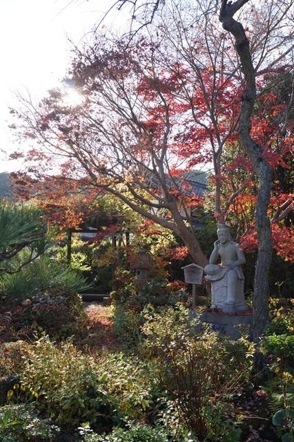晩秋奈良の旅、奈良當麻寺の秋お寺と紅葉、日本一の紅葉を求めて藤田八束、當麻寺西南院の庭園の紅葉_d0181492_21275098.jpg