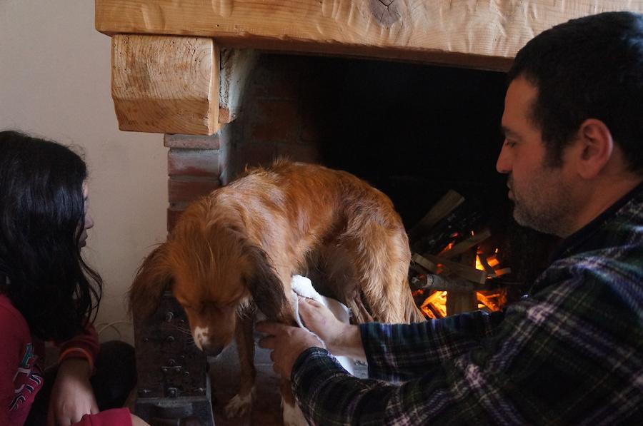 日曜日の午後は暖炉の前で_f0106597_1591670.jpg