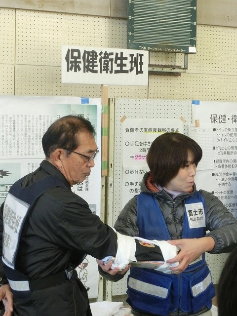成果以上に課題が多かった 約450名が参加しての第2回吉原高校避難所開設・運営訓練_f0141310_891850.jpg