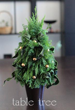 ☆クリスマスのtable tree _d0113182_14501041.jpg