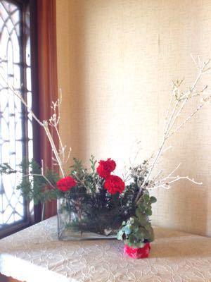 クリスマスのいけばな_e0086864_21273618.jpg