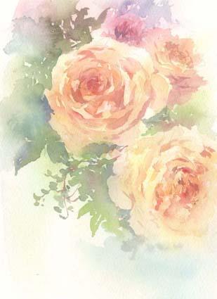 薔薇 水彩画_f0176370_17342697.jpg