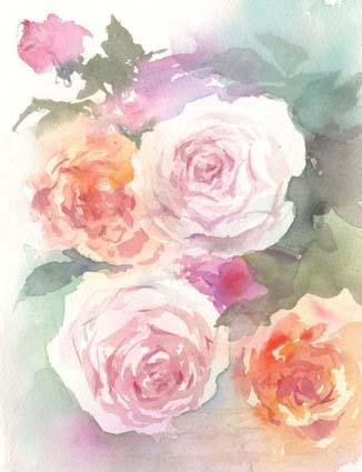薔薇 水彩画_f0176370_17343550.jpg