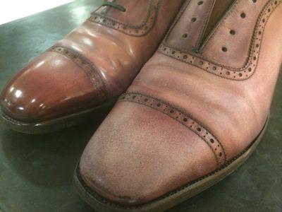 乾燥から完成まで〜ピンクS氏の靴編〜_d0166598_13302059.jpg