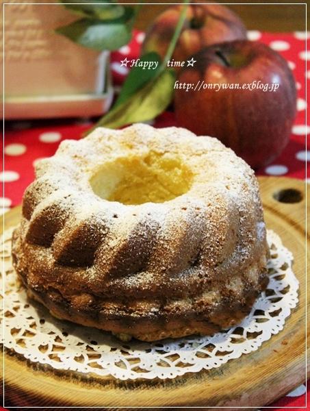 ささみフライ弁当とりんごのクリームケーキ♪_f0348032_18451419.jpg