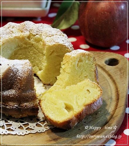 ささみフライ弁当とりんごのクリームケーキ♪_f0348032_18452488.jpg